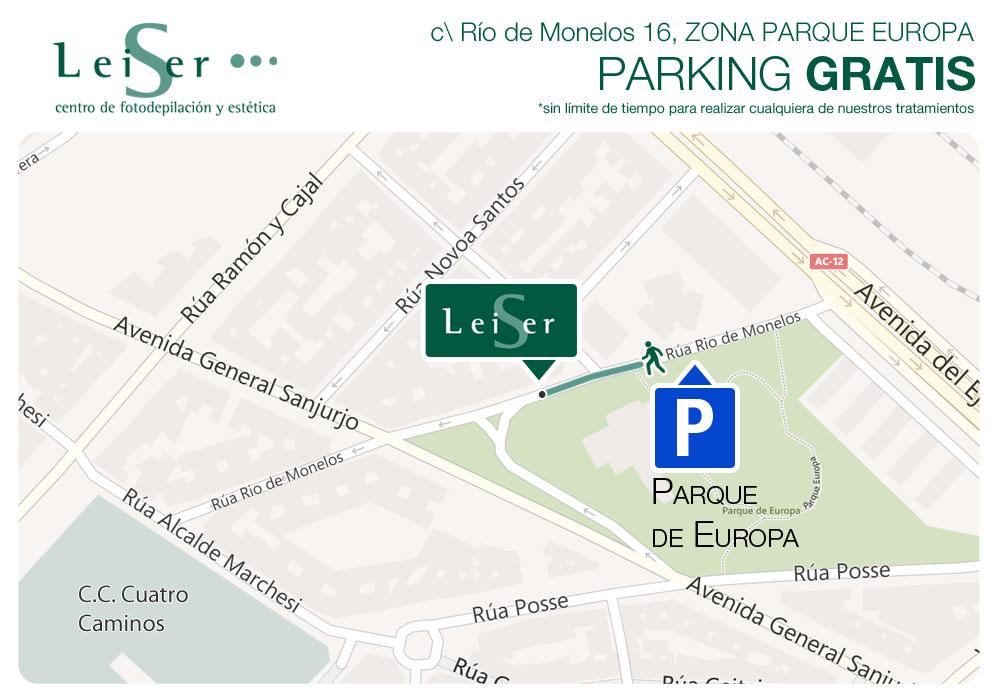 mapa de parking gratuito