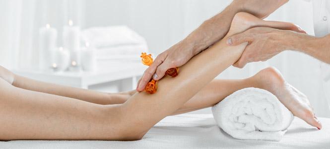 masaje de piernas de drenaje linfático